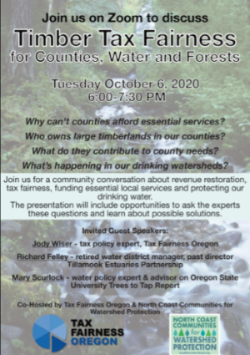 Timber Tax Fairness for Counties, Water and Forests